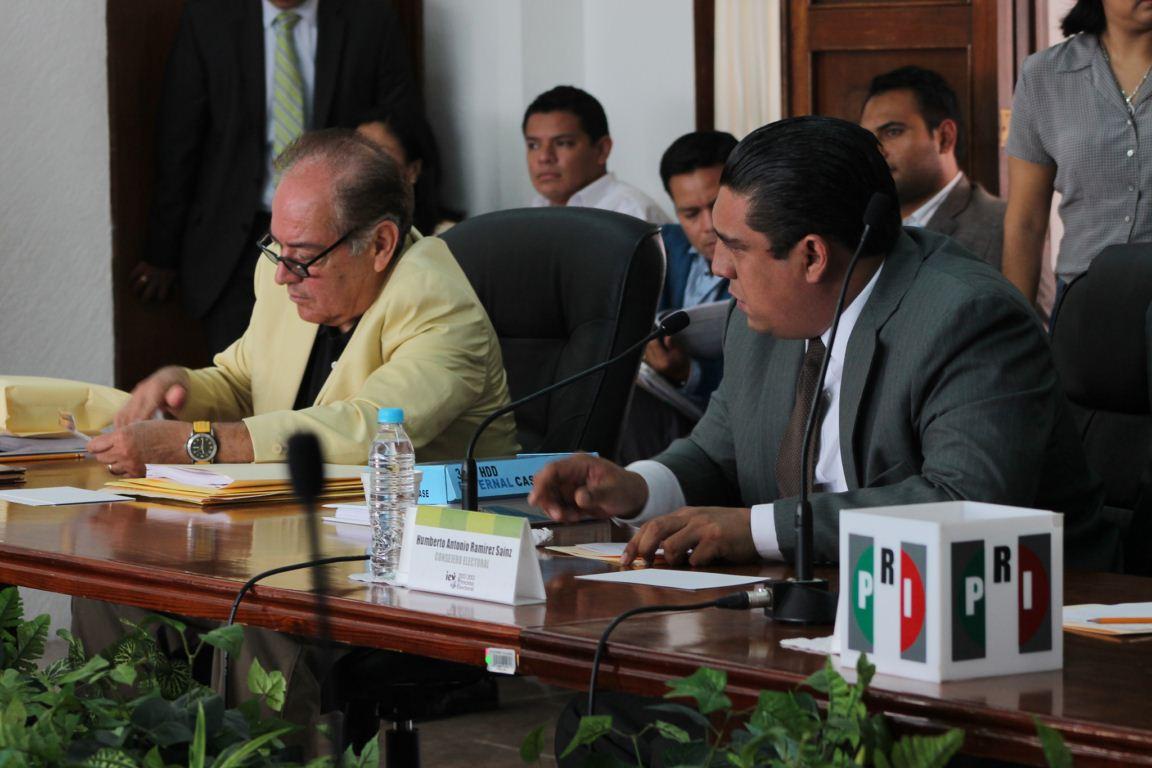 Consejeros del IEV Alfonso Ayala y Humberto Ramirez