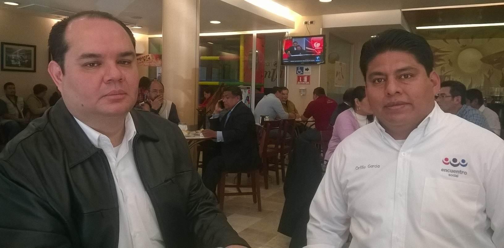 Victor Manuel Quiroz Rocha y Orfilio Garcia Ortiz, dirigentes del PES