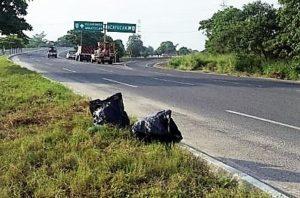 Encuentran bolsas con restos humanos (2)