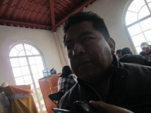 Luis Sánchez, alcalde de Tlaquilpa.