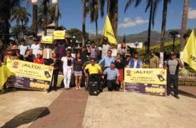 Protestan contra el Gasolinazo en Ciudad Mendoza
