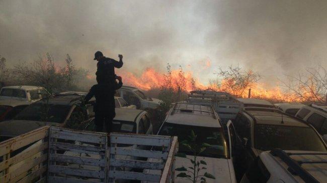 """En """"llamas"""" encierro de Fiscalía en San Bartolo Oaxaca"""